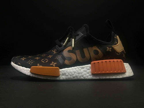 26f972fd0e127 Mens Supreme x Louis Vuitton x adidas NMD R1 Shoes-1